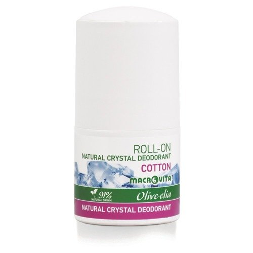 MACROVITA OLIVE-ELIA NATURAL CRYSTAL DEODORANT ROLL-ON COTTON 50ml