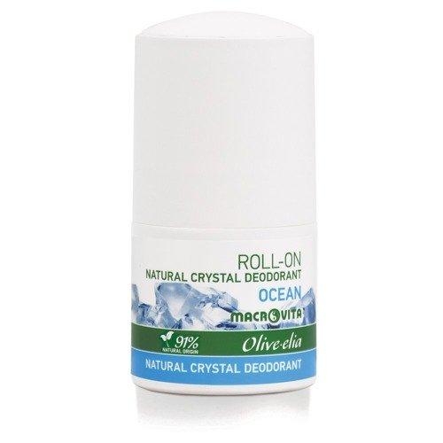MACROVITA OLIVE-ELIA DEODORANT-ROLLER mit natürlichen Kristall OCEAN 50ml