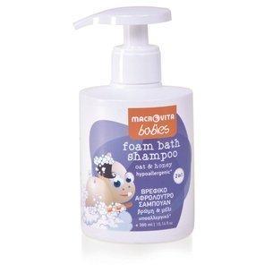 MACROVITA BABIES pianka do kąpieli i szampon dla dzieci 2w1 owies & miód 300ml