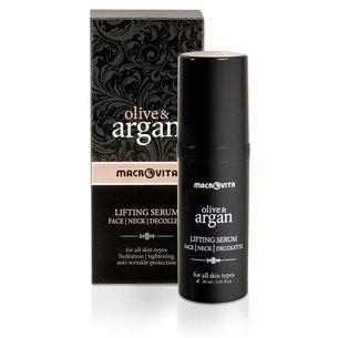 MACROVITA OLIVE & ARGAN liftingujące serum na twarz, szyję i dekolt TimeCode™ Formula 30ml